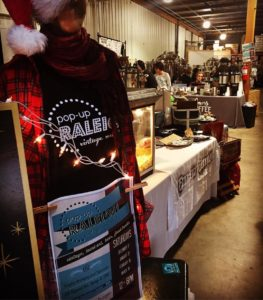 indoor craft market in brewery