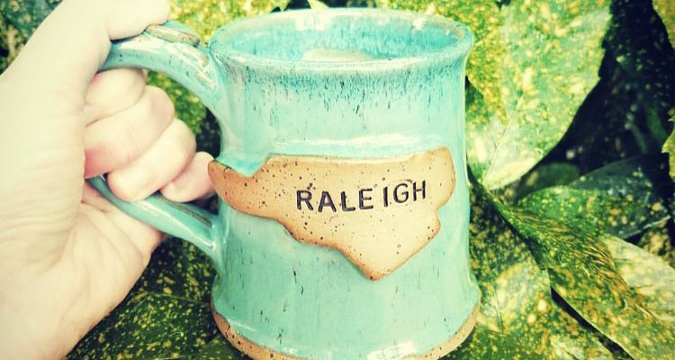 handmade mug raleigh nc full lotus pottery made in nc