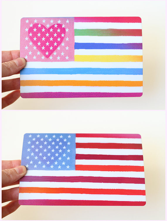We love this flag card from Tylre Paper
